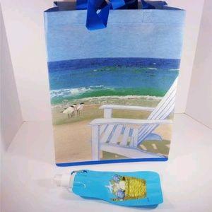 Handbags - NAUTICAL BEACH CHAIR AND SEAGULL BEACH TOTE BAG